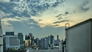 Stock Video Footage of Short Bangkok SKyline Sunset in HDR