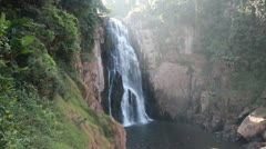 Haew narok waterfall kao yai national park World Heritage,Thailand Stock Footage