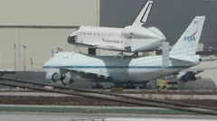 Space Shuttle Endeavour on SCA Taxi Stock Footage