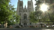 Cathedral of Saint Michael and Saint Gudula in Brussels Belgium Stock Footage