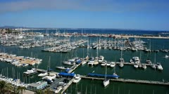 Port of Palma in Palma de Mallorca, Spain Stock Footage