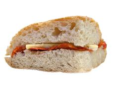 Stock Photo of Sandwich with cheese and ham
