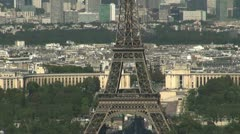 Some scenes of daily Paris, panoramic view from the top - stock footage