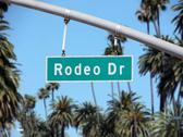 Rodeo drive sign Stock Photos