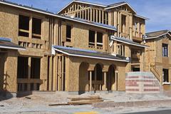 New home construction Stock Photos