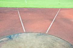 Throw line in track field Stock Photos