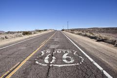 Decayed route 66 Stock Photos
