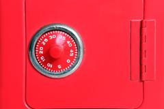 toy safe combo dial - stock photo