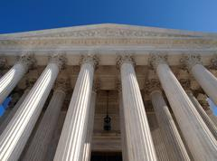 Supreme court pillars Stock Photos