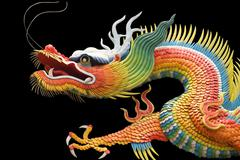 Asian temple dragon Stock Photos