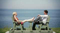 Couple in Vacation taking it Easy Stock Footage