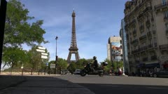 Stock Video Footage of scenes of Paris, views of the Eiffel Tower