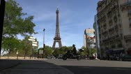 Scenes of Paris, views of the Eiffel Tower Stock Footage