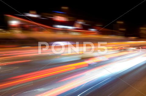 Stock photo of night speed