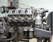Outdated diesel engine Stock Photos