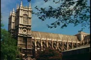 Westminster Abbey, side exterior, London, England, 1976, 1970's Stock Footage