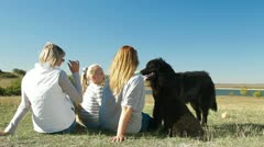 People With Dogs Enjoying Outdoors Stock Footage