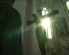 SUN and Jesus crucified 1 Stock Footage
