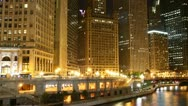 Chicago at night Stock Footage