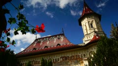Holy monasteries in Bucovina, Romania heritage, Saint John the New church Stock Footage