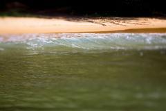 wave on the coastline and beautiful beach of Vietnam. - stock photo