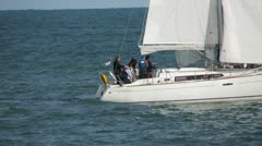 Yacht Sailing 2 Stock Footage