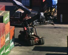 CONTAINER handler 1 Stock Footage