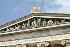 Detail of frieze of Academy of Arts of Athens, Greece Stock Photos