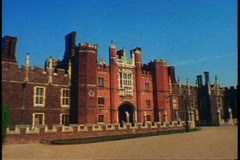 Hampton Court Palace, England, still, wide shot, establishing Stock Footage