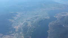 Aerial View Of Lake Okanagan Stock Footage