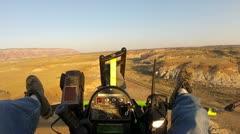 Pilot flight over San Rafael Swell Utah HD 034 Stock Footage