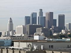 downtown los angeles - stock photo