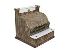 Vintage cash register Stock Photos