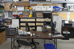untidy industrial office - stock photo