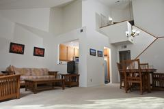 Sunny condo living room Stock Photos