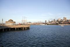 san francisco national historic maritime park - stock photo