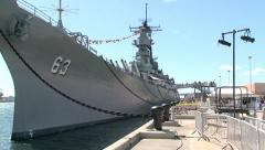 USS MISSOURI BOW SHOT ver2.m2ts Stock Footage