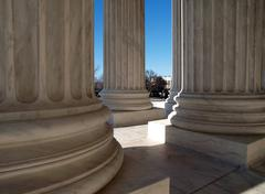 supreme court columns - stock photo