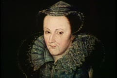 Painting of Mary Queen of Scots, English monarch, English history Stock Footage