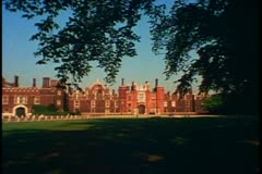 Hampton Court Palace, England, still, very wide shot, establishing Stock Footage