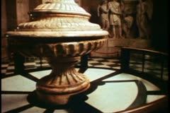 St. Paul's Cathedral, interior, stone carving, Sir Christopher Wren, London, - stock footage