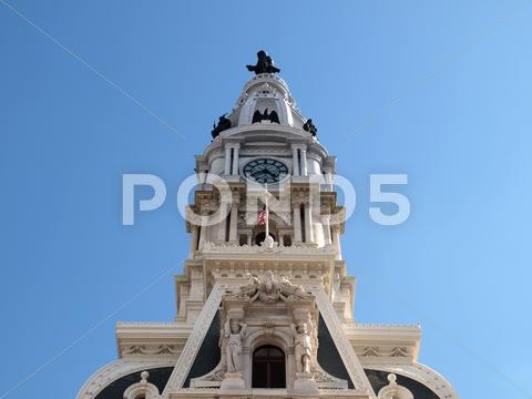Stock photo of philadelphia city hall tower