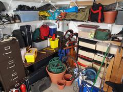 garage mess - stock photo