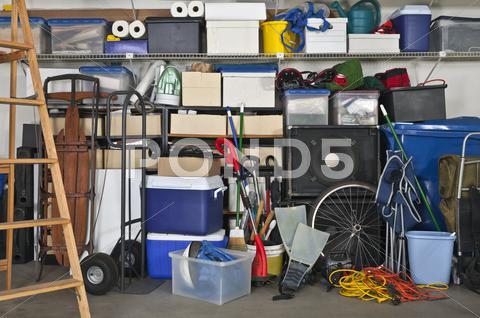 Stock photo of full garage