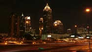 Stock Video Footage of Atlanta Night Timelapse