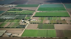 Beautiful Farmland flyby aerial shot of huge farms in the Midwest Stock Footage