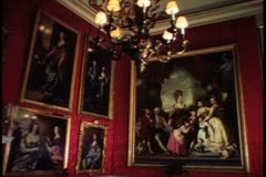 Country Houses of England, Blenheim Palace, interior, medium, period room Stock Footage