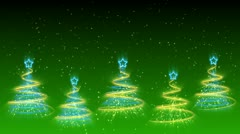 Christmas Trees Background - Merry Christmas 37 (HD) Stock Footage