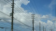 Main electric power lines 10 Stock Footage