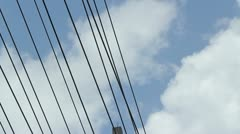 Main electric power lines 5 Stock Footage